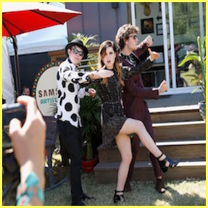 AUSTIN, TX - OCTOBER 03: (L-R) Musician Noah Sierota, singer Sydney Sierota and musician Graham Sierota of Echosmith attend the Samsung Artist House at Austin City Limits Music Festival 2015 on October 3, 2015 in Austin, Texas. (Photo by Rick Kern/Getty Images for Samsung)